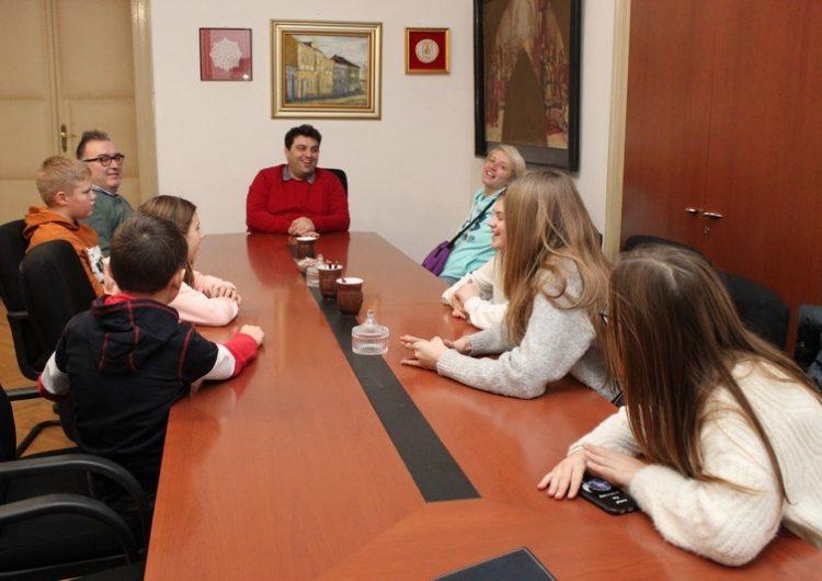 Gradonačelnika posjetili učenici iz Osnovne škole Ljudevita Modeca