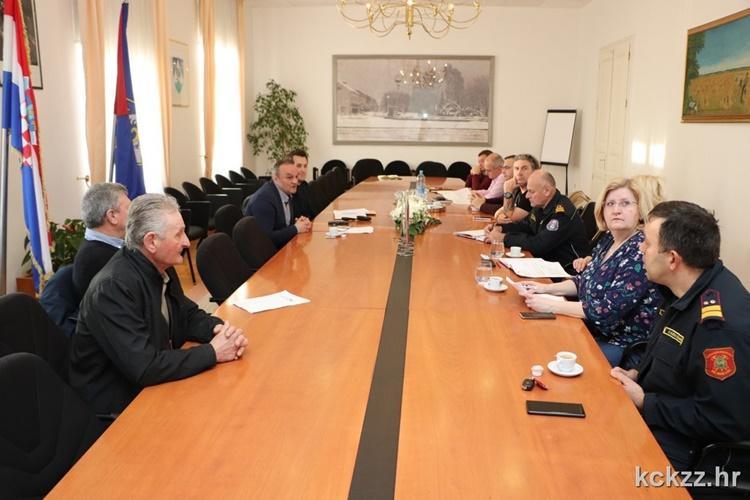 """Održan radni sastanak sudionika vježbe """"Potraga za nestalim osobama na rijeci Dravi 2020."""""""