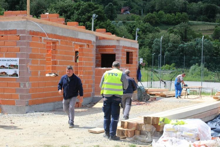 Gradnja društvenog doma u Mjesnom odboru Lepoglavska Ves odlično napreduje