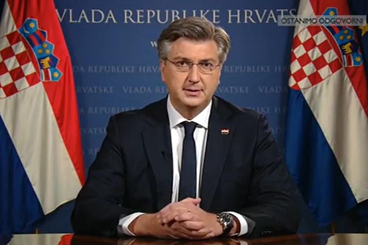 Uoči novih mjera: Plenković od građana zatražio odricanja, ali i najavio pomoć gospodarstvu. Za nepoštivanje mjera – sankcije!