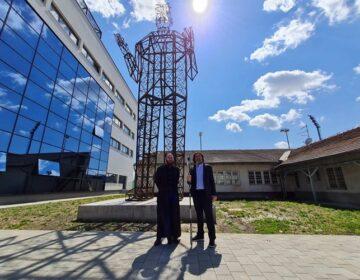U Varaždinu otkrivena najveća skulptura Nikole Tesle u svijetu domaćeg umjetnika Nikole Vudraga