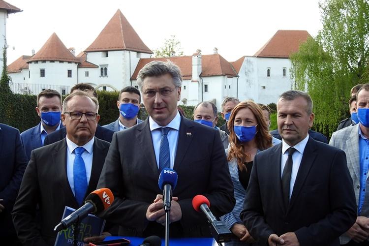 Plenkovićeva podrška HDZ-ovim kandidatima: U Varaždinskoj županiji ugovorili smo skoro 300 milijuna eura europskih projekata i osigurali 400 milijuna kuna za 33.000 radnika u korona krizi