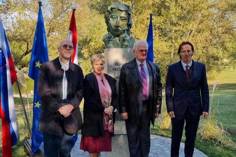 Otkriven Prešernov spomenik u Zagrebu – Antolić Vupora: Stalnim jačanjem veza produbljujemo prijateljstvo dviju država